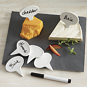 cheese markers with slate board