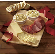 Cutting Board with Cheese & Ham