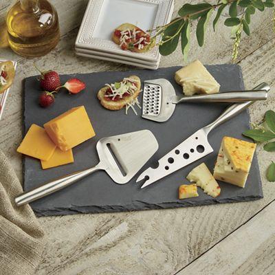 Three Cheese Tools and Slate Cheese Board