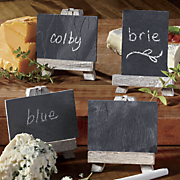 mini chalk boards with easels