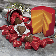 cheddar and chocolatey hearts
