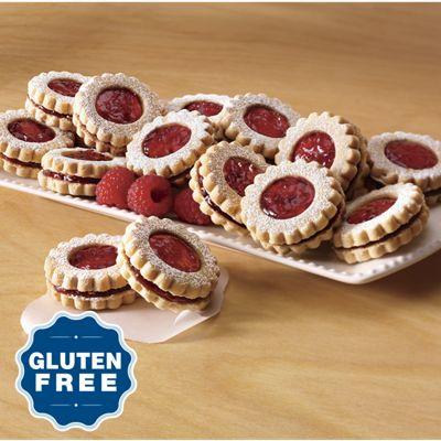 Gluten-Free Raspberry Linzer Cookies