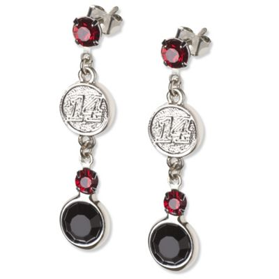 Tony Stewart #14 Crystal Earrings