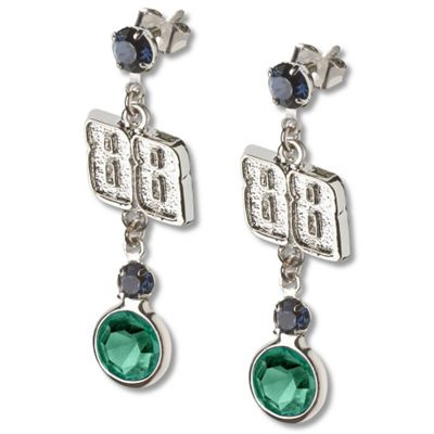 Dale Earnhardt Jr. #88 Crystal Earrings