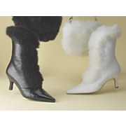 Faux Fur Trim Boot