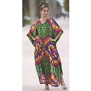 color burst caftan
