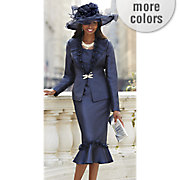 brandi skirt suit and mabelina hat