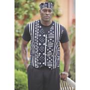 max mudcloth vest set