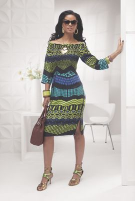Ashro Fashions Catalog cayenne smocked dress