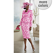 karee hat and charra skirt suit