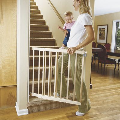 All Wood Stairway Swing Safety Gate
