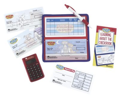 Pretend & Play Calculator Checkbook