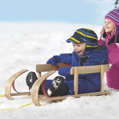 KinderSleigh Wooden Snow Sled