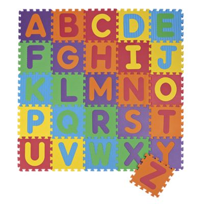 26-Piece Foam Puzzle Play Mat Letters