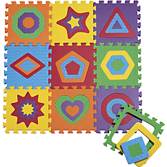 10 Piece Puzzle Mat Shapes Foam Play Mat