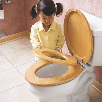 Wooden Family Toilet Seat