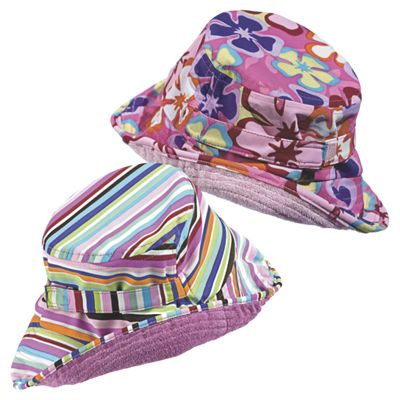 Sun Smarties Girl's Reversible Sun Hats