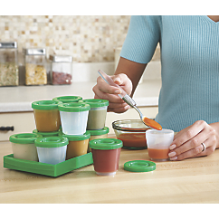 Fresh N Freeze 2 oz Reusable Baby Food Containers 12 Pack