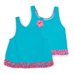 Sun Smarties Ruffled A-Line Tankini Top