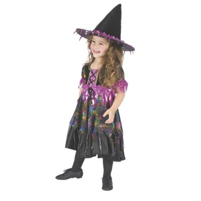 Little Rainbow Spider Witch Costume