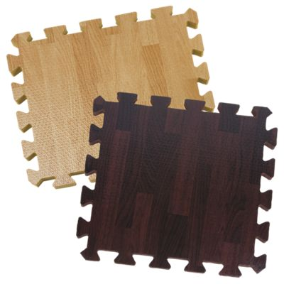 26-Piece Foam Puzzle Play Mat - Wood-Grain