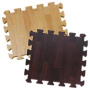 26 Piece Foam Puzzle Play Mat   Wood Grain