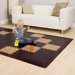 Wood Grain Foam Puzzle Play Mats