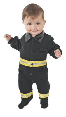 Baby Jr. Fire Fighter Romper Halloween Costume