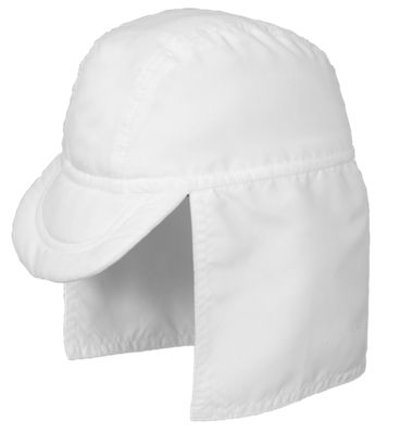 Sun Smarties White Flap Hat