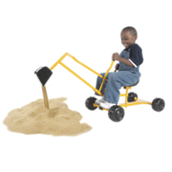 Sand Digger Scoop n Swivel Backhoe Sand Toy