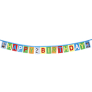 Happy Birthday Banner and Personalized Panel