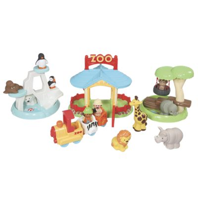 Spring Meadow Zoo Toy Play Set with Train
