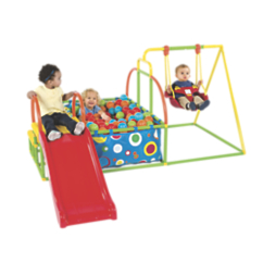 Toddler Swing Set, Slide & Ball Pit Activity Gym