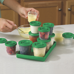 fresh n freeze reusable baby food containers 6 pack