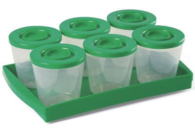 Fresh N Freeze 4 oz. Reusable Baby Food Containers 6-Pack