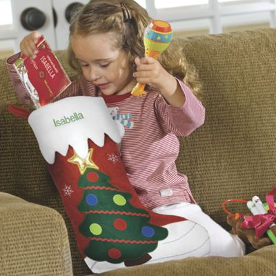 Embroidered Holiday Stocking