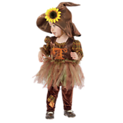 Baby and Toddler Girls Scarecrow Halloween Costume