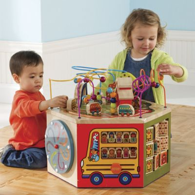 Wooden Activity Center For Toddlers From One Step Ahead 30934