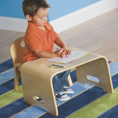 Kids' Steam Bent Wood Desk and Chair