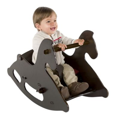 Junior Wood Rocking Horse with Seat Cushion