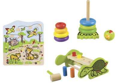 Classic Wood Toddler Toy Gift Set
