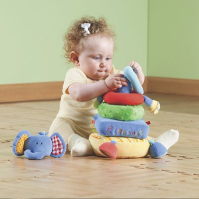2-in-1 Elephant Soft Stacking Toy