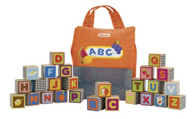 Kids Wood Alphabet Blocks
