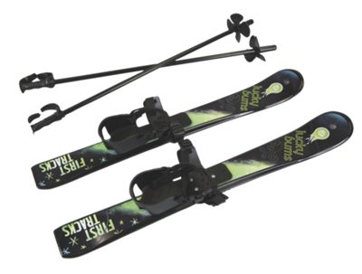 Kids' Beginner Skis with Poles