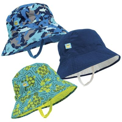 Sun Smarties Boy's Reversible, Adjustable UV Sun Hat