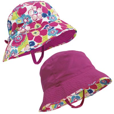 Sun Smarties Girl's Reversible, Adjustable Sun Hat