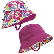 Sun Smarties Girl's Reversible, Adjustable Sun Hat