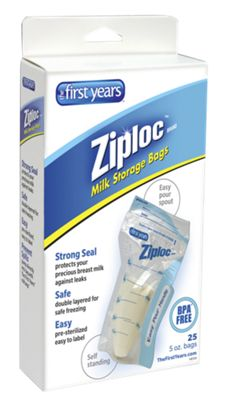 Ziploc Milk Storage Bags 25-Pack
