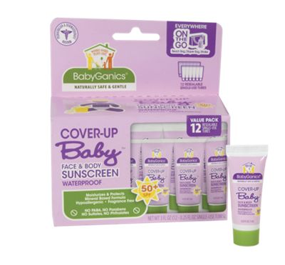 Cover-Up Baby Natural Sunscreen Travel Tubes 12-Pack