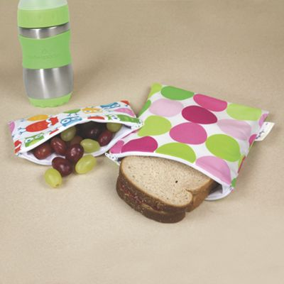 Snack Happened Reusable Snack and Sandwich Bag 2-Pack